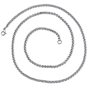 22 inch 3mm Stainless Steel Rolo Chain Necklace available in 22, 24, 26, 30, and 36 inch length