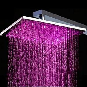 Regadera moderna cambia de color ducha contemporanea dpa for Precio de regaderas