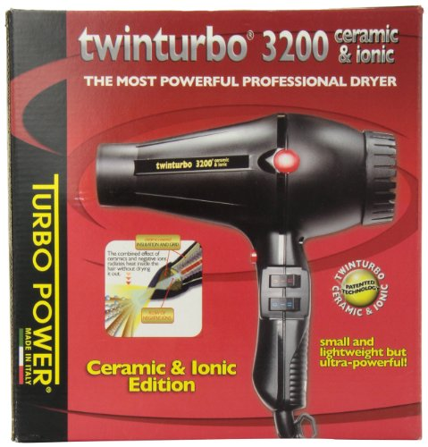 Twin Turbo 3200 Ceramic and Ionic Professional Hair Dryer, 1900 Watt (Blower Turbo Ceramic compare prices)