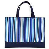 ハンドメイド感覚のKidsレッスンバッグ リバーシブルタイプ オーシャンブリーズ × 帆布・紺 日本製 N0193800
