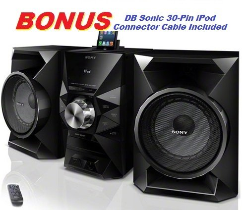 Sony 470 Watt Powerful Hi-Fi Stereo Sound System With Mp3 Cd Player, Am & Fm Radio, 30 Preset Stations, Remote Control, Digital Time Display, Alarm Clock, Sleep Timer, Child Lock, 8 Band Equalizer, Bass Boost, 2-Way Bass Reflex Speakers, Auxiliary Input J front-947236