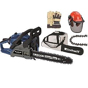 Einhell BGPC 1235 Kit BenzinKettensägenSet, 1,2 kW/1,6 PS, inkl. Mischflasche,Feile,Schwertschutz,Tragetasche,2. Kette,Schutzhelm,Handschuhe  BaumarktBewertungen