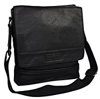 "Kenneth Cole ""Life is Grand"" Flapover Daybag Messenger Tablet Case-Black"