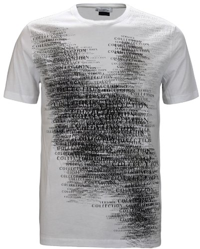 Versace Collection Men's Logo Print Stretch T-Shirt White (XXL)