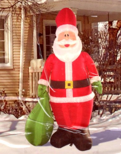 7-ft. Santa with Gift Bag Illuminated INflatable