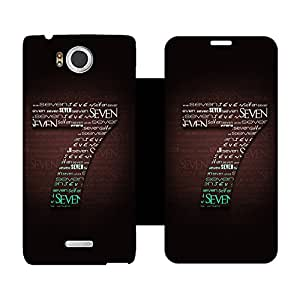 Skintice Designer Flip Cover with hi-res printed Vinyl sticker wrap-around for Infocus M530
