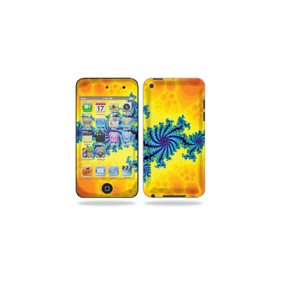Protective Vinyl Skin Decal Cover for iPod Touch 4G 4th Generation Sticker Skins   Fractal Works Cell Phones & Accessories