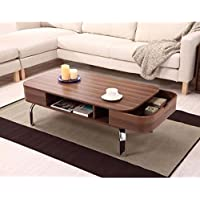 Furniture of America Lawson Modern Walnut 2-Drawer Coffee Table