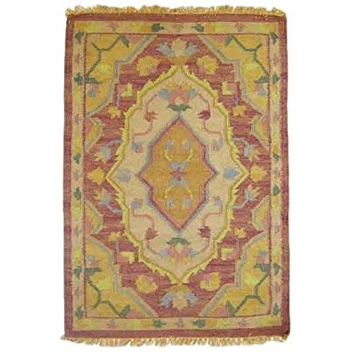 Better & Best 0565133 - Tappeto dhurry con anais fragola, 80 x 130 cm
