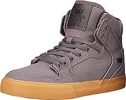 Supra Kids Boy\'s Vaider (Little Kid/Big Kid) Magnet Canvas Sneaker 2 Little Kid M