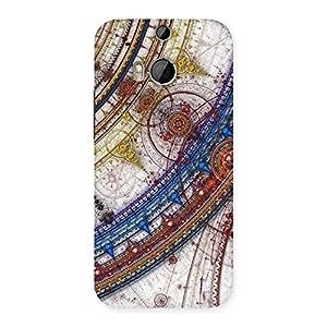 Ajay Enterprises WoSonarp Multicolor Back Case Cover for HTC One M8