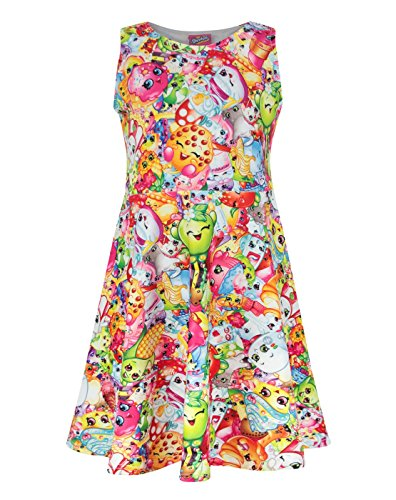 Shopkins Girl's Skater Dress (5-6 Years) (The Five Sauces compare prices)