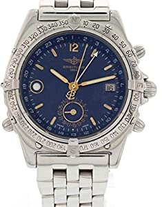 Breitling Duograph swiss-automatic blue mens Watch A15507 (Certified Pre-owned)