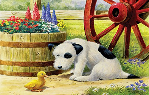 Pup and Friend a 100-Piece Jigsaw Puzzle by Sunsout Inc.