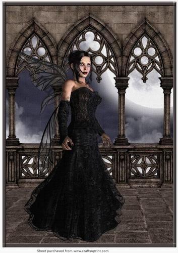 Gothic Fata scena A4by Annette Crossley