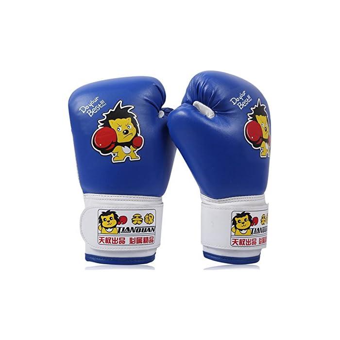 Tofern bambini boxe guanti muffole Junior mma guanti sparring in pelle sintetica – Blu 1: prezzi, offerte vendita online