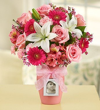Sweet Baby Girl Arrangement - Large front-990701