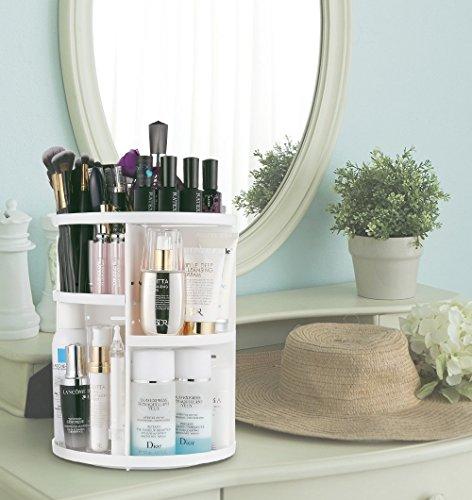 Jerrybox-360-Grad-Drehbarer-Make-up-Organizer-Einstellbarer-Kosmetikorganizer-Multifunktionale-Aufbewahrungsbox-Groer-Stauraum-7-Verstellbare-Ebenen-Passend-fr-Schminke-Gesichtswasser-Cremes-Kosmetikp