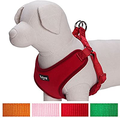 Blueberry Pet Harnesses for Small dogs Classic Solid Padded Dog Harness Vest