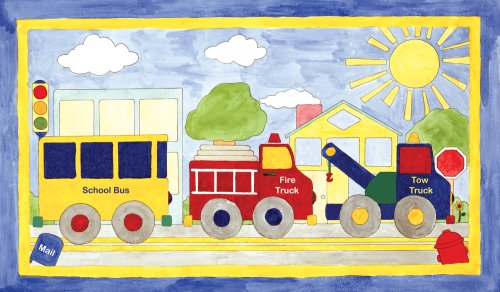 "Art 4 Kids ""Big Drivin"" Mounted Art Print, 24""X14"""