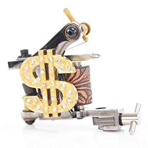Fashion black gold dollar tattoo gun 10 wrap for Amazon tattoo machine
