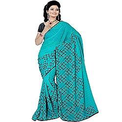 Pawan Tex saree for women's (saree73_light blue)