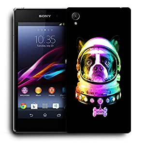 Snoogg Dog Astronaut Designer Protective Back Case Cover For SONY XPERIA Z1 L39H