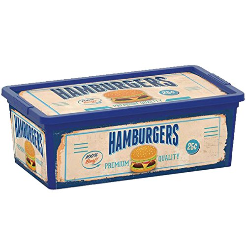 Kis 8407000 1860 01 C Box stile Vintage, Fast Food-Scatola portaoggetti, in plastica, 6 L