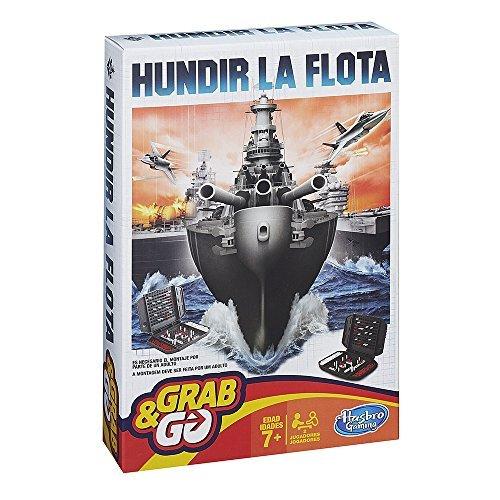 Hasbro Gaming - Juego de viaje Hundir la Flota (B0995175) (versión española/portuguesa)