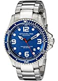 Stuhrling Original Men's 593.332U16 Aquadiver Grand Regatta Swiss Quartz Diver Date Blue Watch