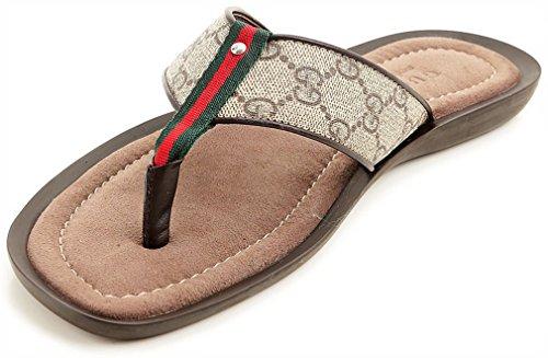 46750a654 pictures of Gucci Men s GG Supreme Canvas Flip-flop Sandals