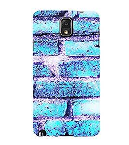 PrintVisa Icy Blue Brick Pattern 3D Hard Polycarbonate Designer Back Case Cover for Samsung Galaxy Note 3