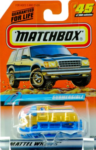 1998 - Mattel - Matchbox - #45 of 100 Vehicles - Submersible - Ocean Edition - Series 9 - World Ocean Exploration - New - Out of Production - Limited Edition - Collectible