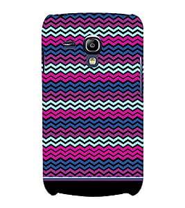PrintVisa Cute Chevron Pattern 3D Hard Polycarbonate Designer Back Case Cover for Samsung Galaxy S3 Mini