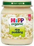 HiPP Organic Stage 1 From 4 Months Rice Pudding 6 x 125 g (Pack of 2, Total 12 Pots)