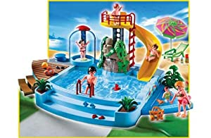 Playmobil Pool With Waterslide 4858 With Hsb Storage Bag Toys Games