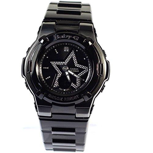 Casio Women's Baby-G BGA115B-1B Black Plastic Quartz Watch with Black Dial