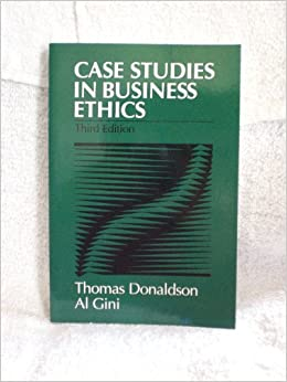 case studies for business ethics with solution