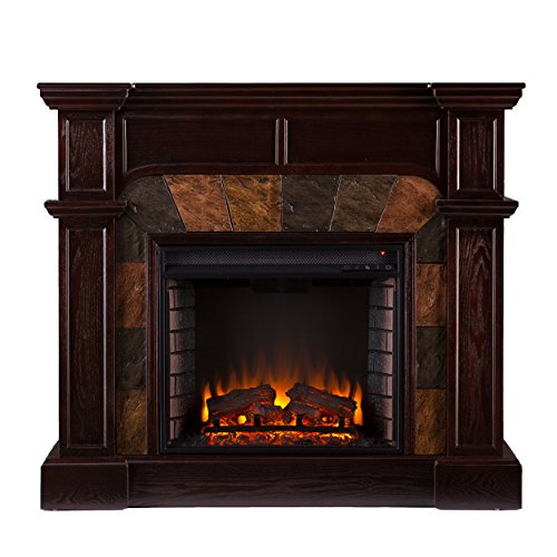 Cartwright Convertible Electric Fireplace - Immortal Espresso
