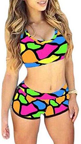 sunifsnow-bikini-tankini-basic-senza-maniche-donna-multicolore-multicolore