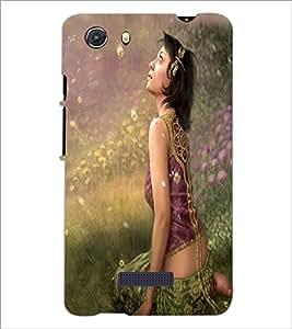 PRINTSWAG BEAUTIFUL GIRL Designer Back Cover Case for MICROMAX Q372 UNITE 3