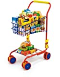 Bayer Design Shopping Cart colorful with diverse toy food boxes and 58 cm Handle Height by Bayer Design