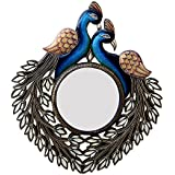 Divraya Wood Peacock Wall Mirror (50.8 Cm X 4 Cm X 58.42 Cm, DA106)