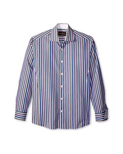 Bertigo Men's Orion Multicolor Stripe Long Sleeve