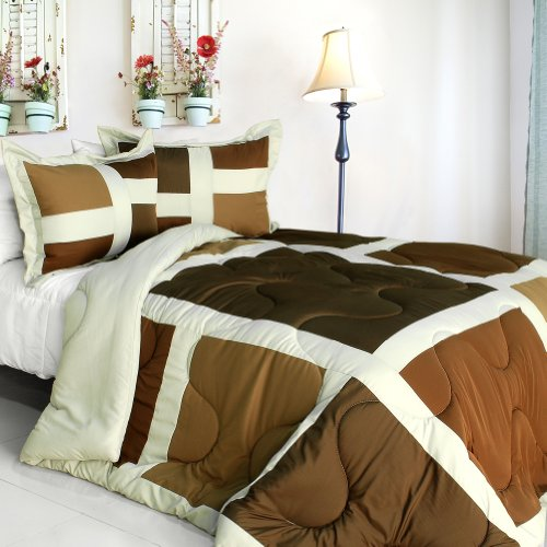 [New Melody] Quilted Patchwork Down Alternative Comforter Set (Twin Size) front-918521