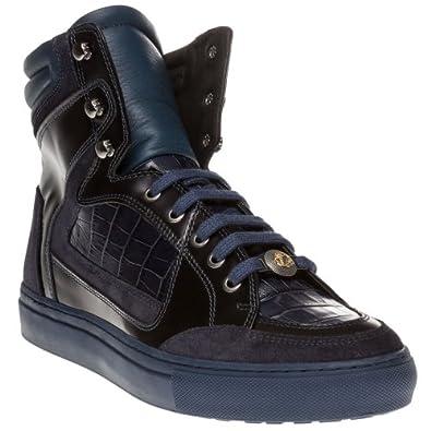 versace collection herren sneaker blau blau blau. Black Bedroom Furniture Sets. Home Design Ideas