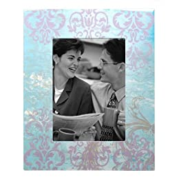 "Product Image Big Floral Decoupage Frame - Blue (5x7"")"