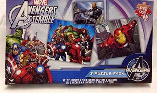 Avengers Assemble MARVEL 3-in-1 Puzzle Pack Set