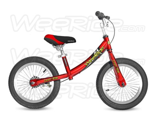 WeeRide Kids Deluxe Balance Bike - Silver, 14 Inch, 14 Inch