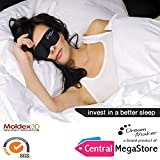#1 Rated Dream Marker® - Anti-Aging (Ultra Soft Silk) Premium Quality Sleep Mask - Contoured Eye Mask with Carry Pouch and Ear Plugs - Very Lightweight With Adjustable Velcro Strap - For Men, Women, Kids, Shift Work, Meditation & Travel, Insomnia or Quiet Natural Night Sleeping Masks